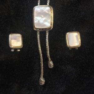 Necklace and Earrings set David Yurman Style
